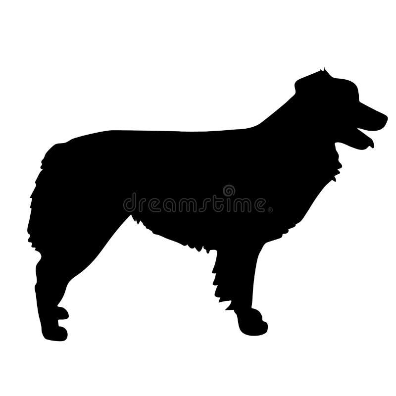 Australische Herder Silhouette royalty-vrije illustratie
