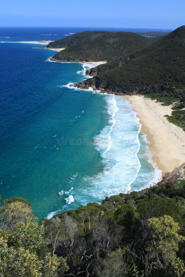Australische Kustlijn stock foto's