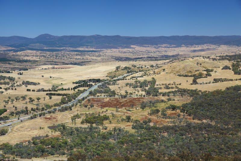 Australische Landschaft nahe Canberra stockfoto