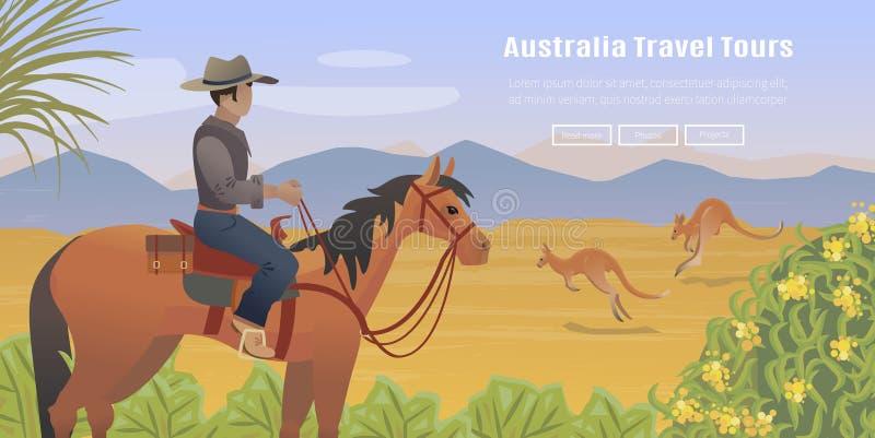 Australische landschapsaffiche