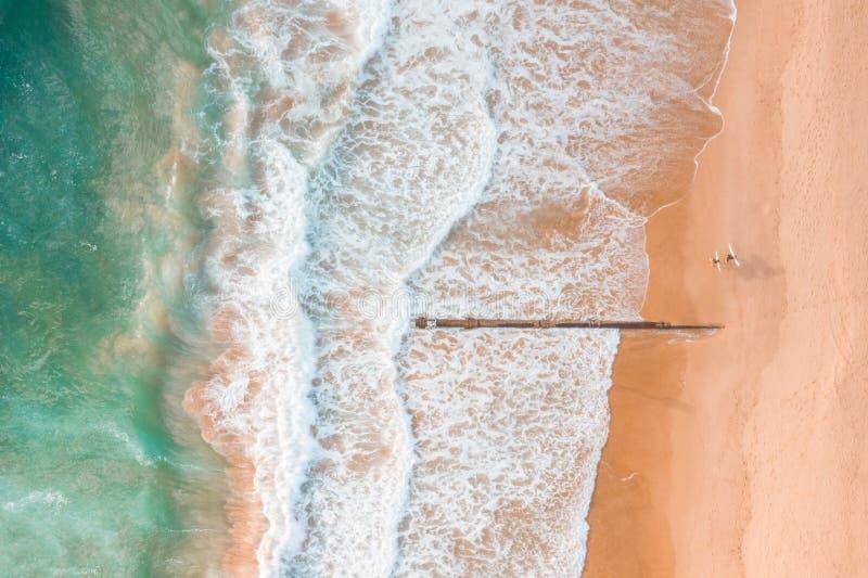 Australische Luftstrand scape Szenenansichten stockfotos