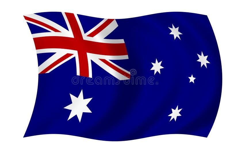 Australische Markierungsfahne lizenzfreie abbildung