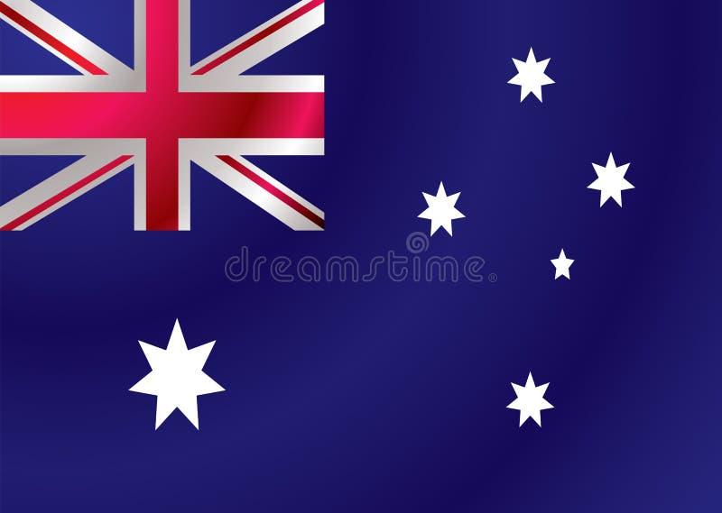 Australische Markierungsfahnenkräuselung lizenzfreie abbildung