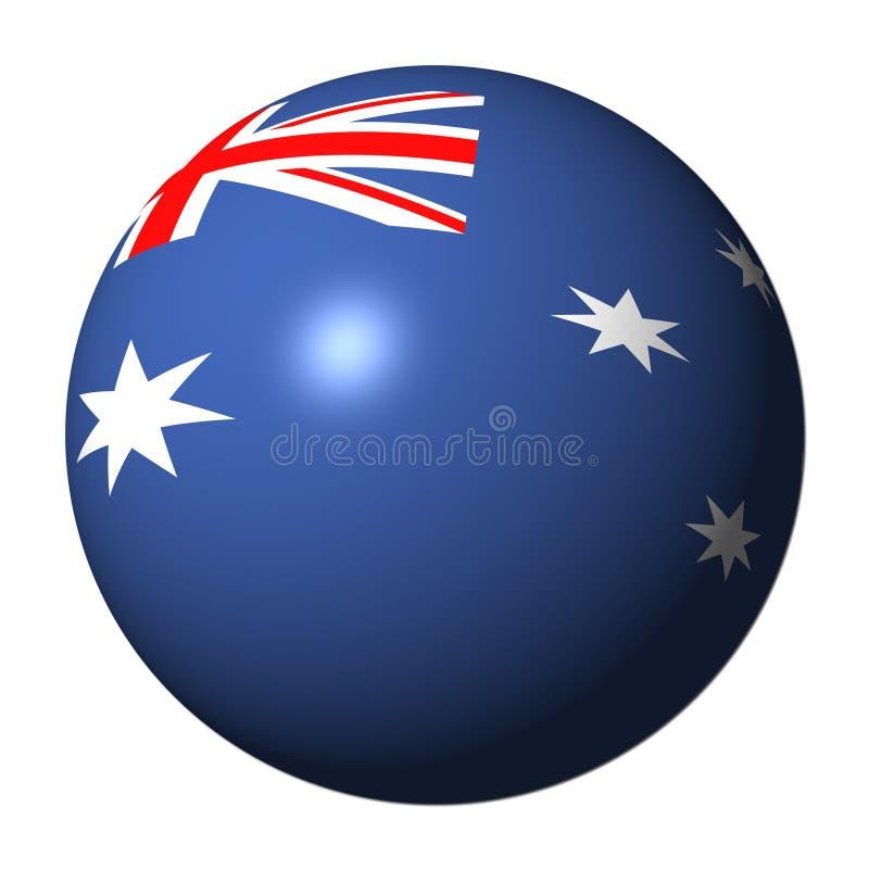 Australische Markierungsfahnenkugel lizenzfreie abbildung