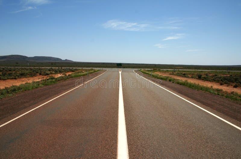 Australische Nullarbor-Verbinding, Zuid-Australië stock foto