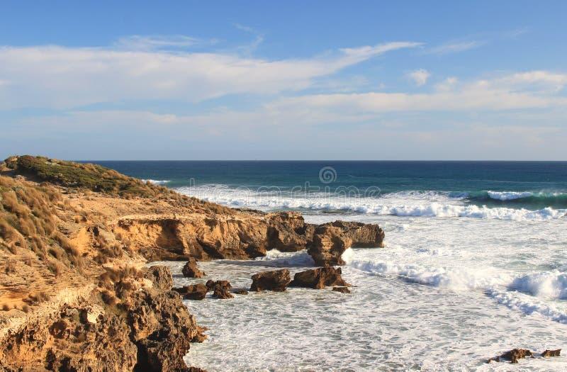 Australische Ozeanlandschaft lizenzfreie stockfotos