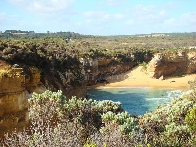 Australische Ozeanlandschaft stockfotos