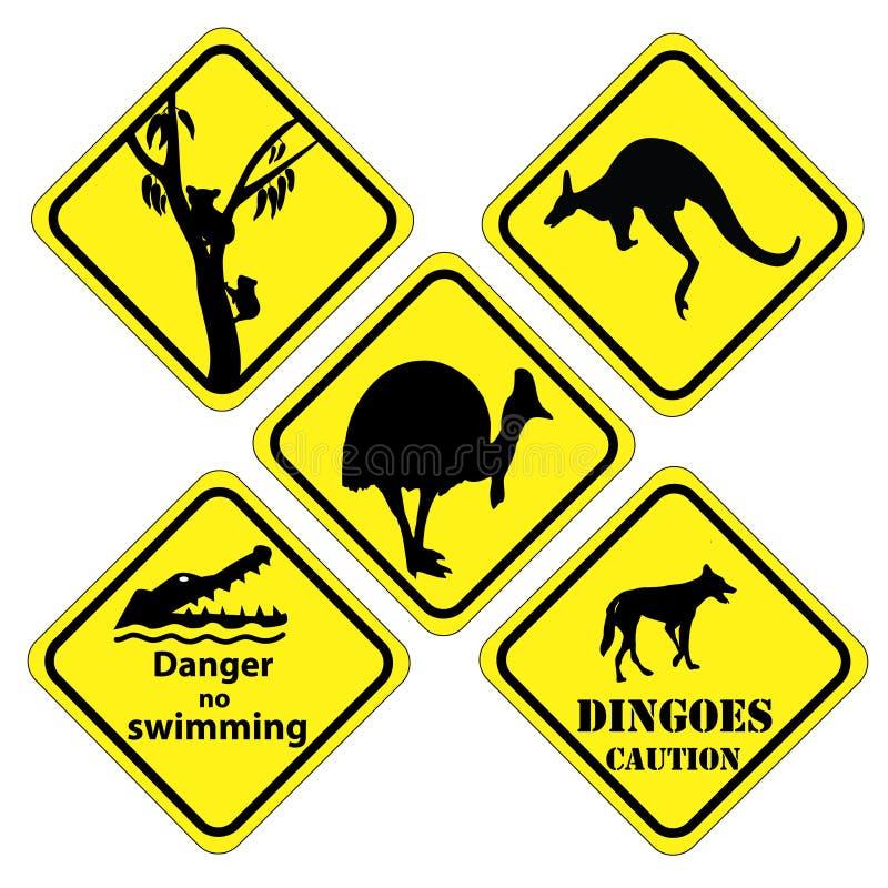 Australische reeks tekens royalty-vrije illustratie