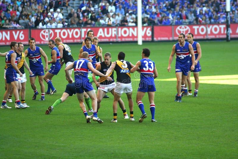 Australische regelsvoetbal stock foto's