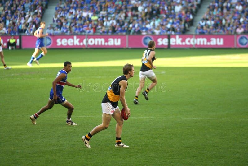Australische regelsvoetbal stock afbeelding