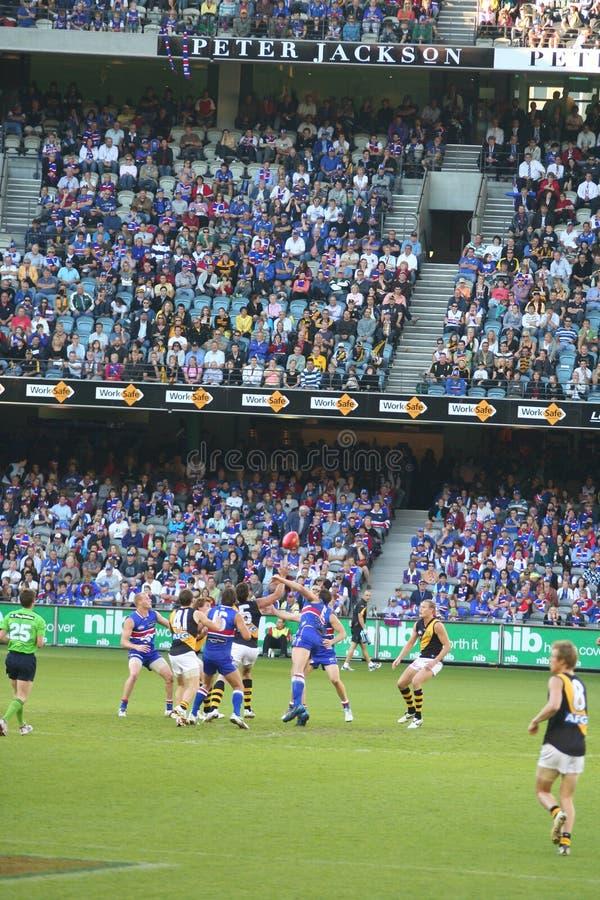 Australische regelsvoetbal royalty-vrije stock foto