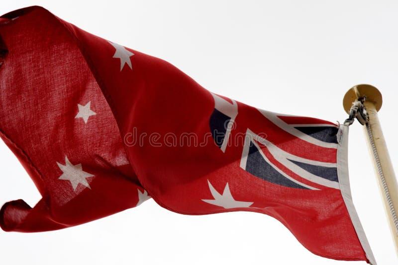 Australische rote Fahne lizenzfreies stockfoto