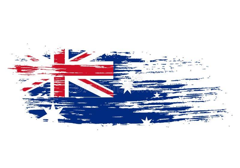 Australische vlag stock illustratie