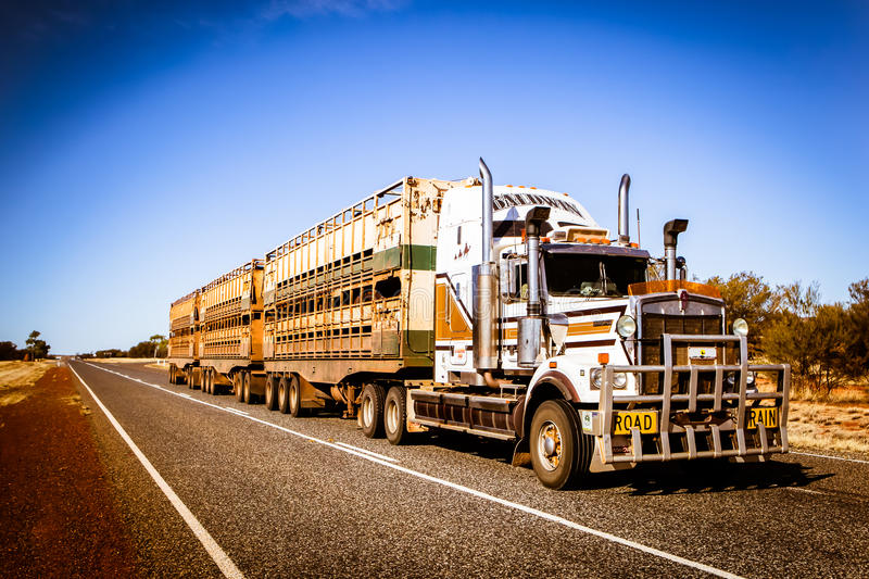 Australische Wegtrein stock afbeelding