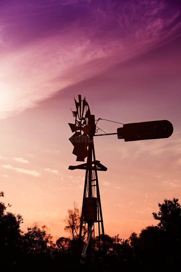 Australische Windmühle stockfotos