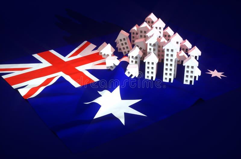 Australische Wirklichzustandsentwicklung lizenzfreie abbildung