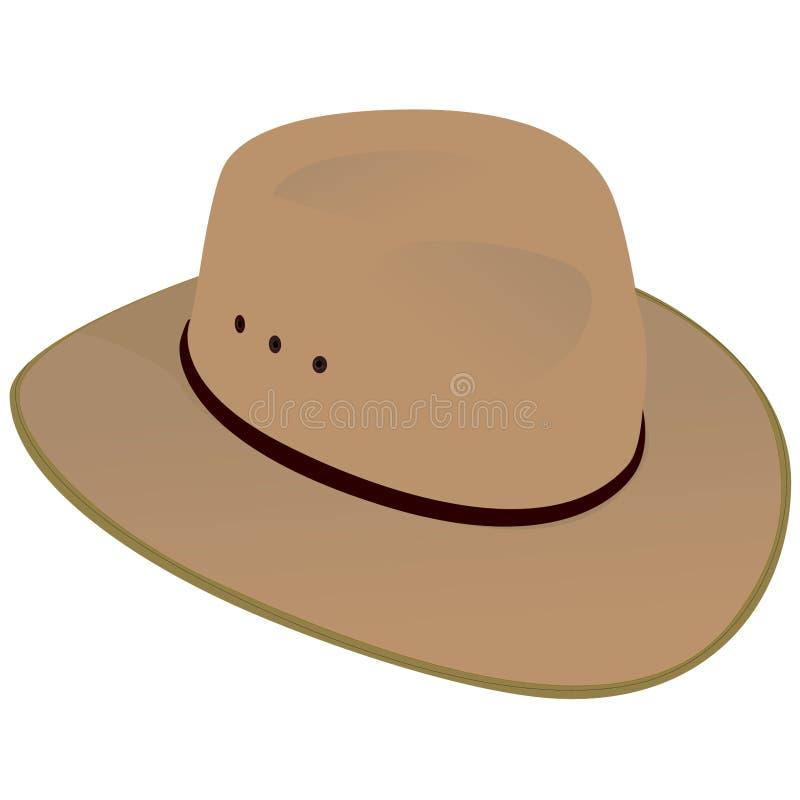 Australischer breiter geströmter Hut vektor abbildung