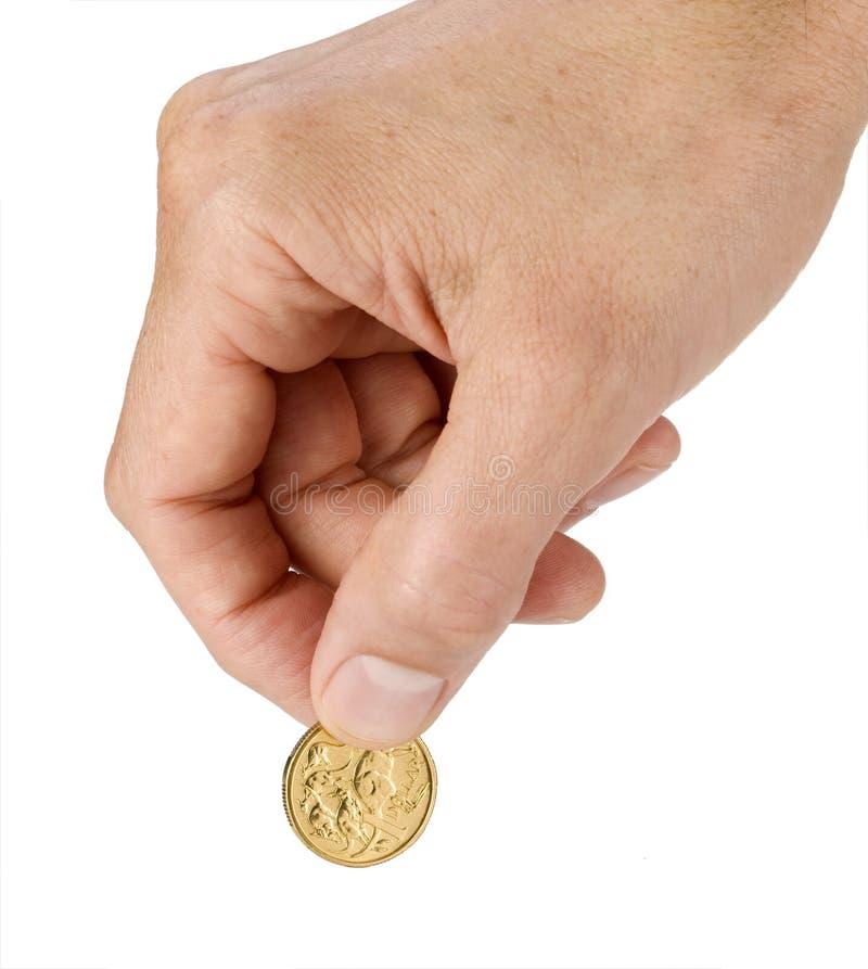Australischer Dollar-Münze lizenzfreie stockbilder