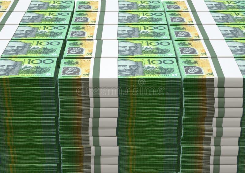 Australischer Dollar merkt Stapel stockbild