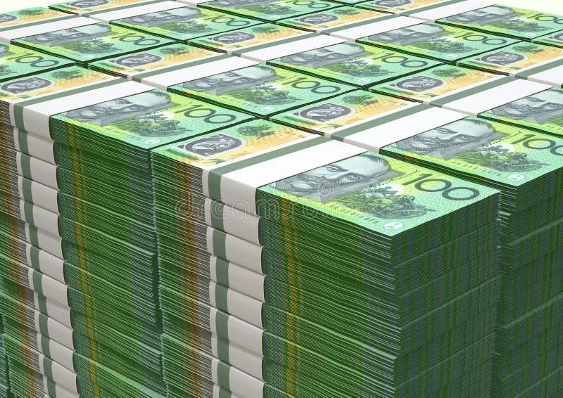 Australischer Dollar merkt Stapel lizenzfreie stockfotos
