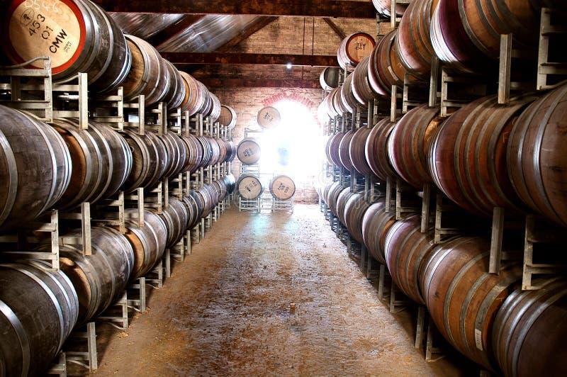 Australischer Weinkeller stockbild