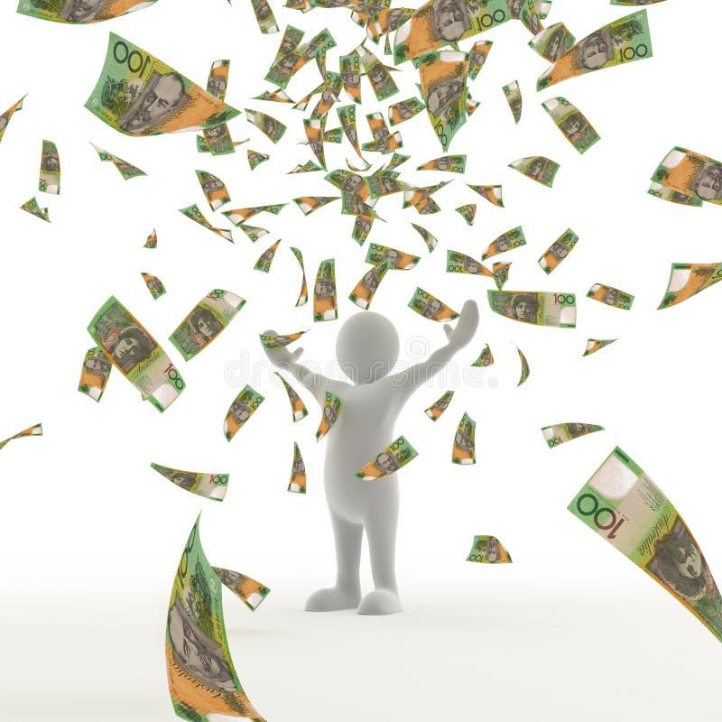Australisches Geld, das vom Himmel fällt lizenzfreie abbildung