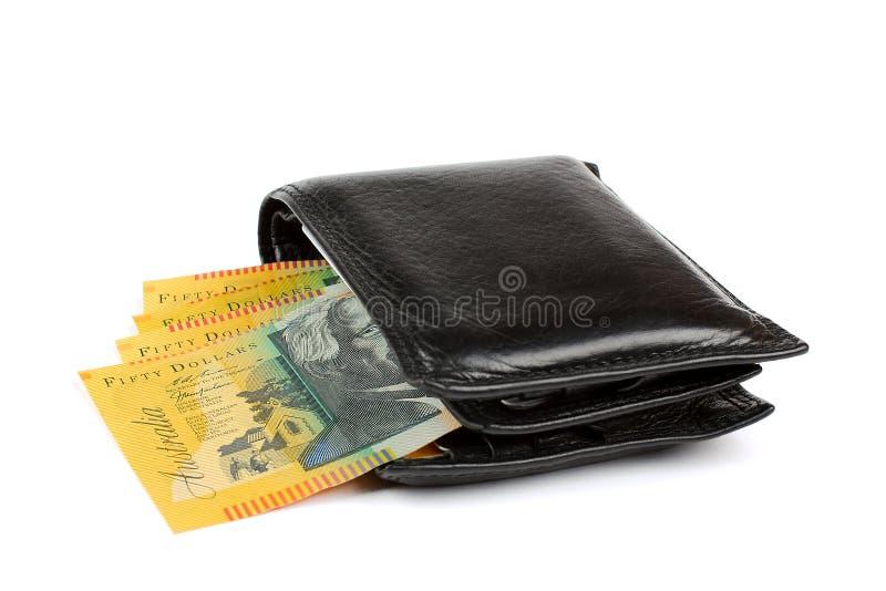 Australisches Geld in der Mappe stockfotografie