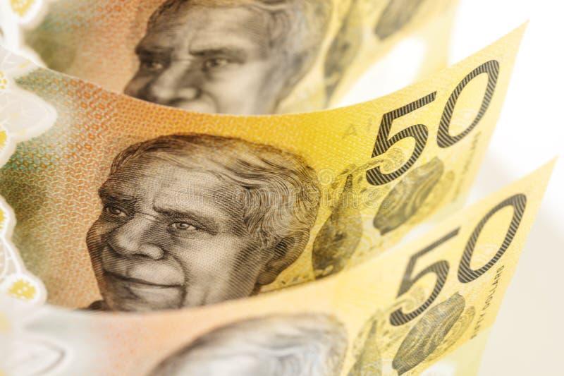 Australisches Geld - Hintergrund lizenzfreie stockfotos