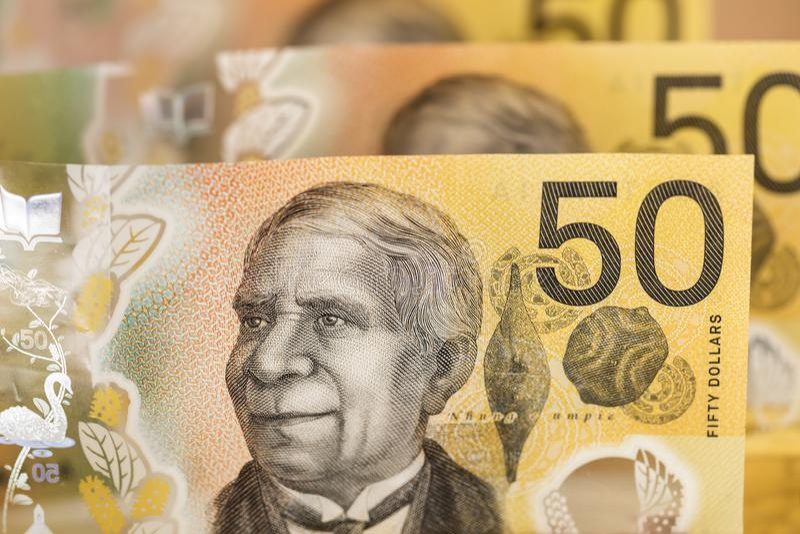 Australisches Geld - Hintergrund lizenzfreies stockfoto