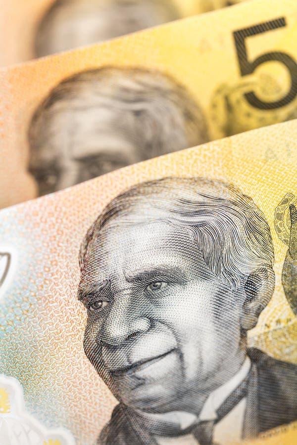 Australisches Geld - Neue Anmerkungen stockbild