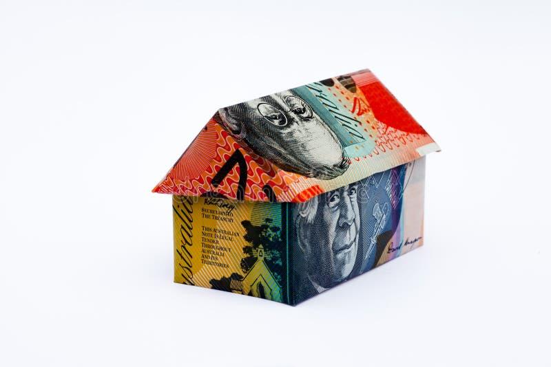 Australisches Origami-Geld-Haus lizenzfreie stockfotografie