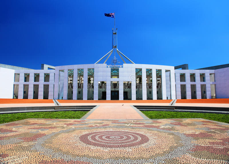Australisches Parlamentsgebäude in Canberra lizenzfreies stockfoto