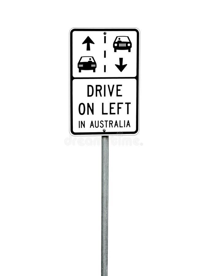Australisches Verkehrsschild stockfotos