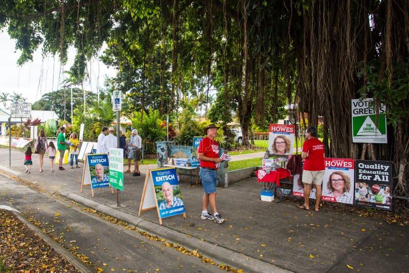 Australisches Wahltag-Wahllokal lizenzfreie stockbilder