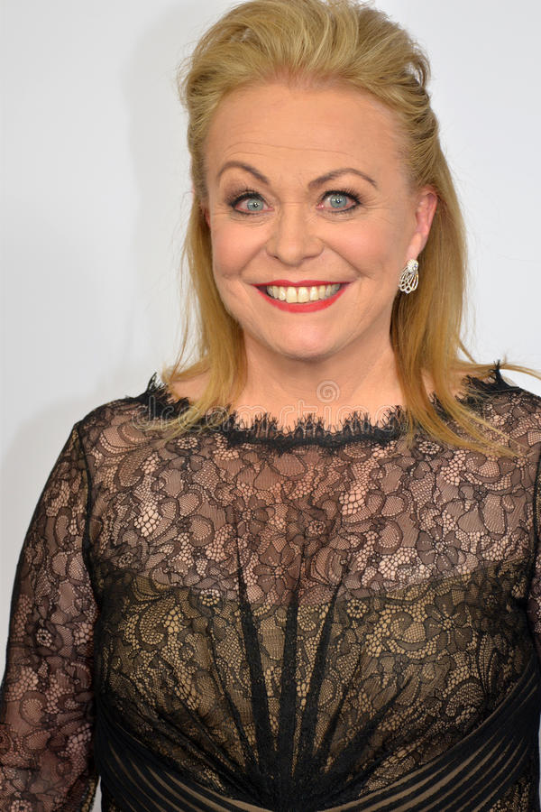 Australisk aktris Jackie Weaver på den röda mattan royaltyfri bild