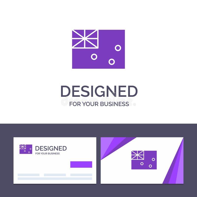 Australisk idérik mall för affärskort och logo, Australien, land, flaggavektorillustration vektor illustrationer
