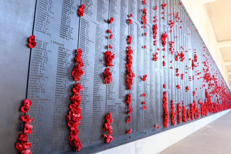 Australisk nationell krigminnesmärke i Canberra arkivbild