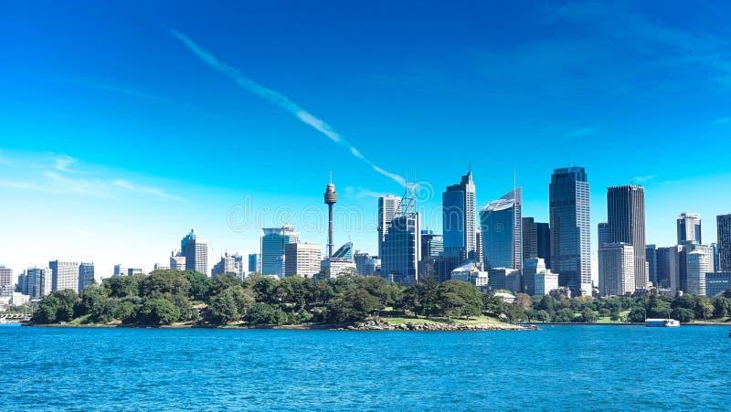 Australisk stadshorisont av Australien royaltyfria foton