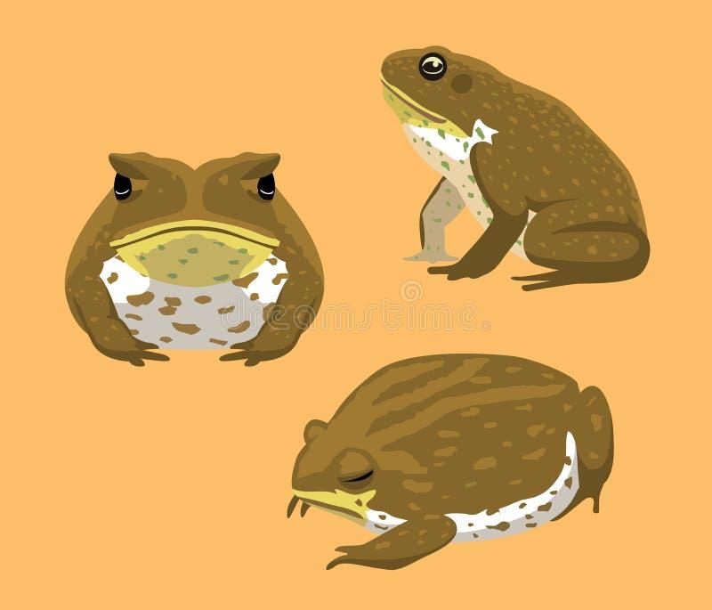 Australiska djura Cane Toad Cartoon Vector Illustration vektor illustrationer