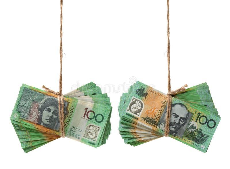 Australiska sedlar för valuta $100 royaltyfria foton
