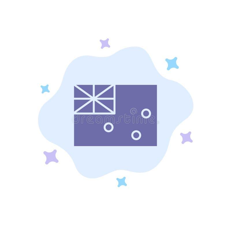 Australiskt Australien, land, blå symbol för flagga på abstrakt molnbakgrund royaltyfri illustrationer