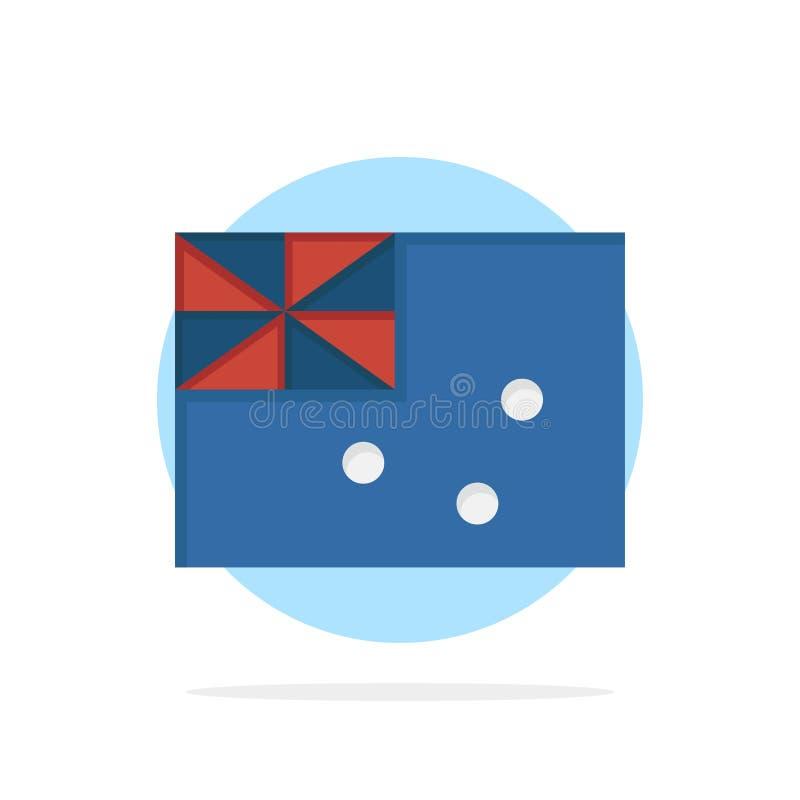 Australiskt Australien, land, för abstrakt symbol för färg cirkelbakgrund för flagga plan stock illustrationer