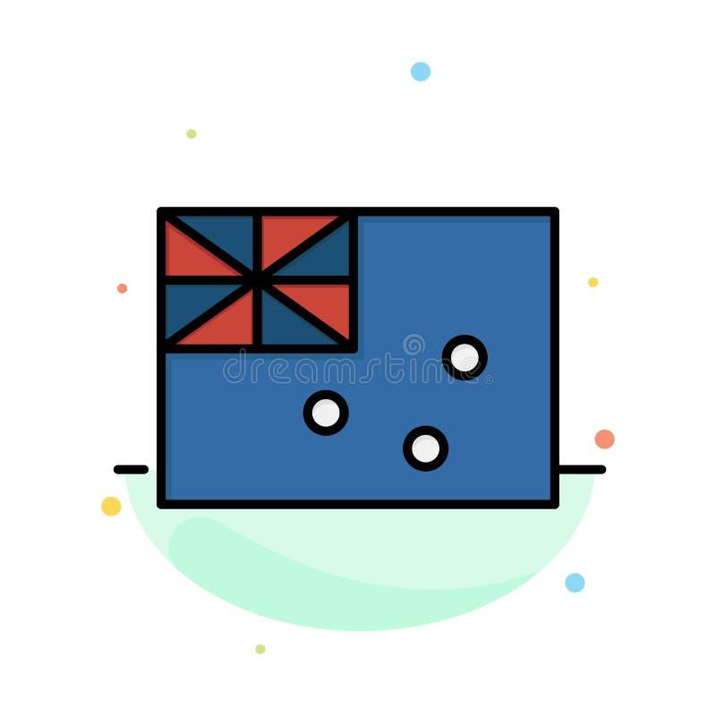 Australiskt Australien, land, för färgsymbol för flagga abstrakt plan mall royaltyfri illustrationer