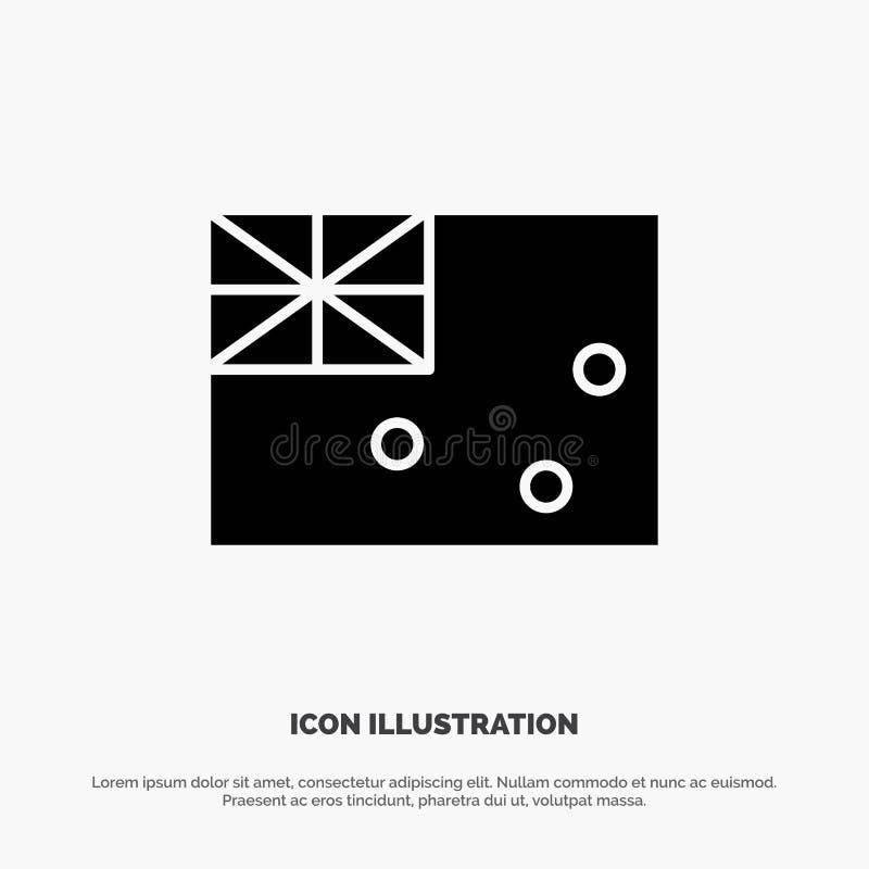 Australiskt Australien, land, för skårasymbol för flagga fast vektor stock illustrationer