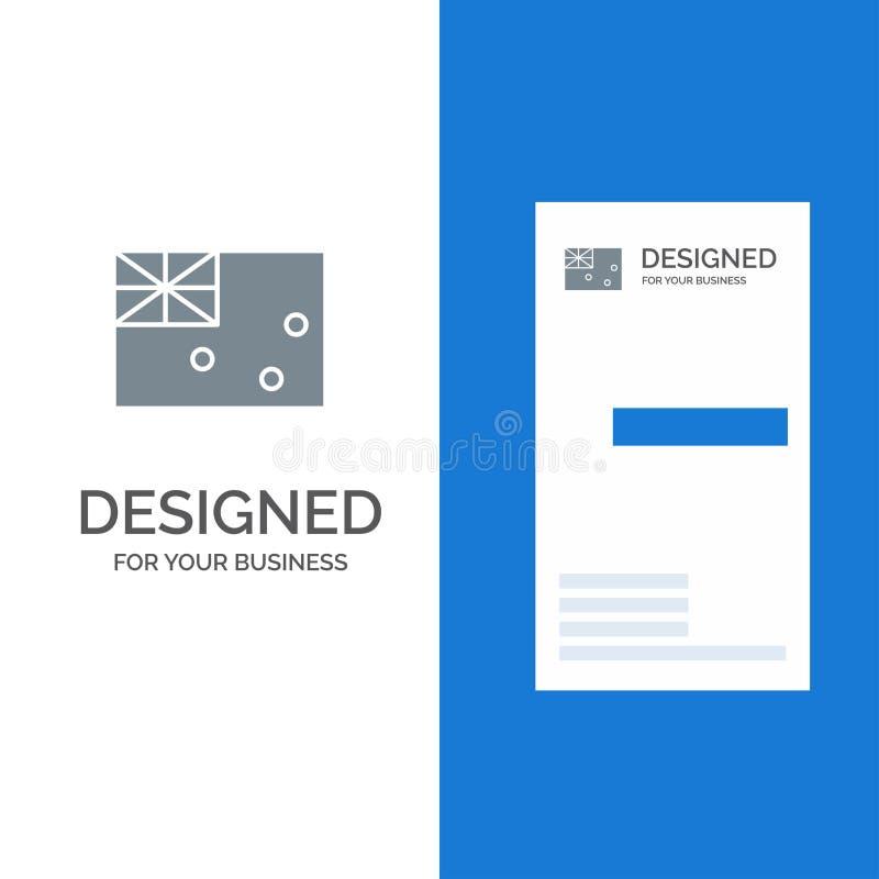 Australiskt, Australien, land, flagga Grey Logo Design och mall för affärskort stock illustrationer