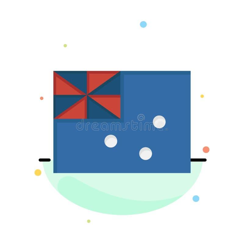 Australiskt Australien, land, flaggaaffär Logo Template plan f?rg royaltyfri illustrationer
