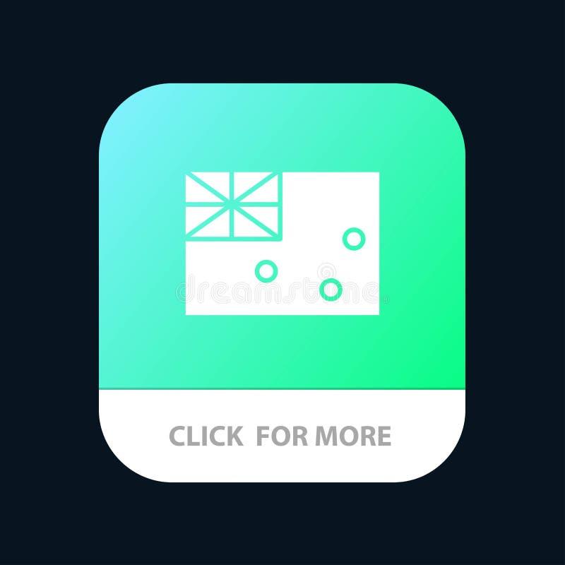 Australiskt Australien, land, mobil Appknapp för flagga Android och IOS-skåraversion vektor illustrationer