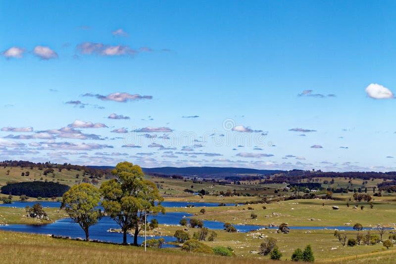 Australiskt lands- och sjölandskap royaltyfria bilder