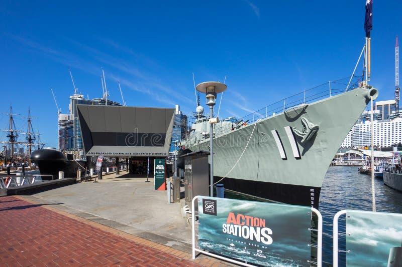 Australiskt Sjöhistoriska museet royaltyfria foton