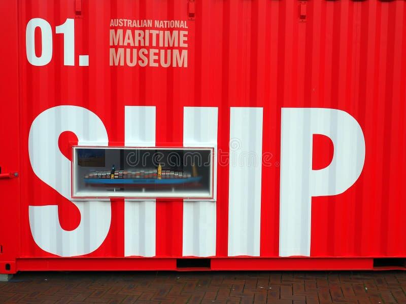 Australiskt Sjöhistoriska museet, Sydney, Australien royaltyfri foto